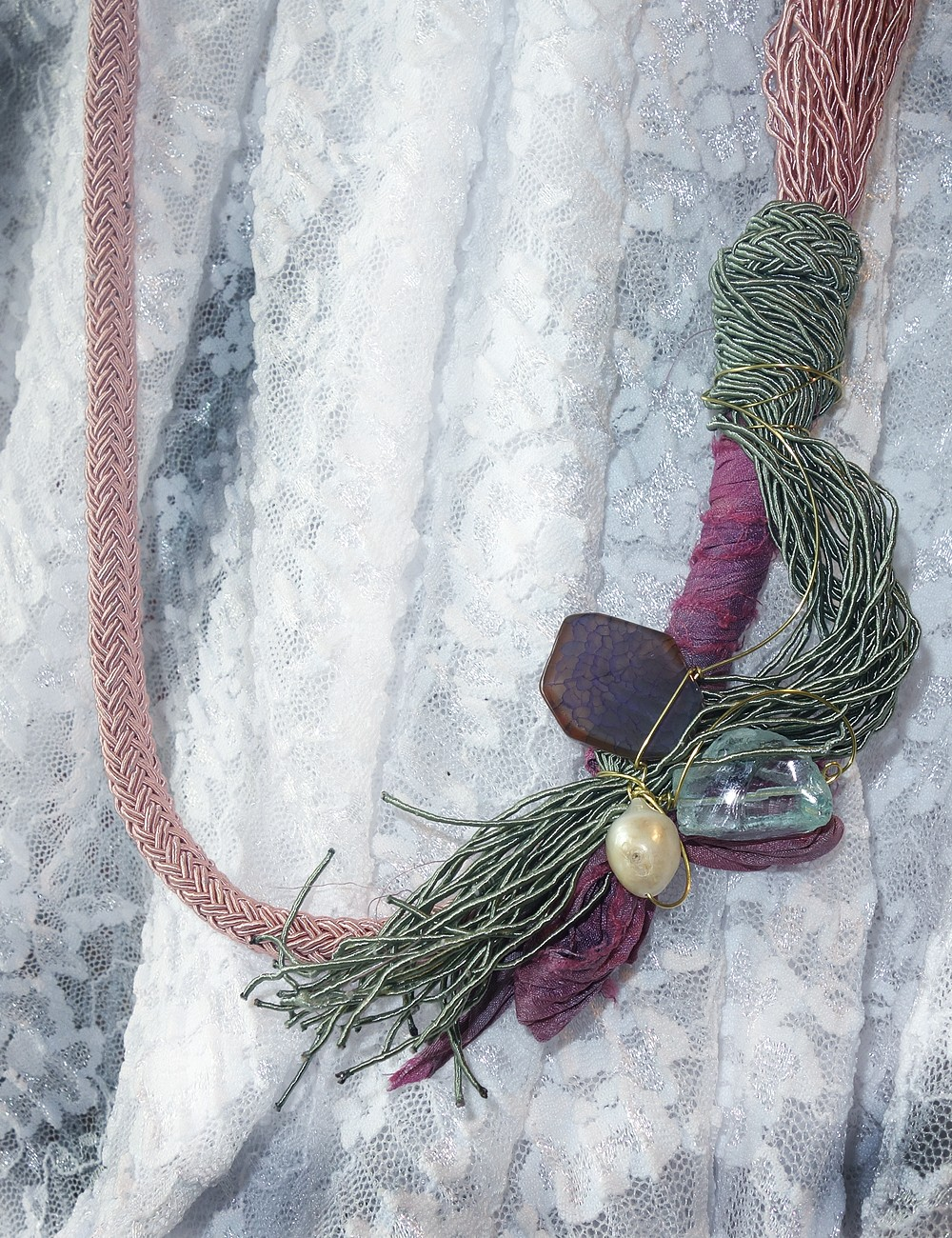 Handmade necklace with...