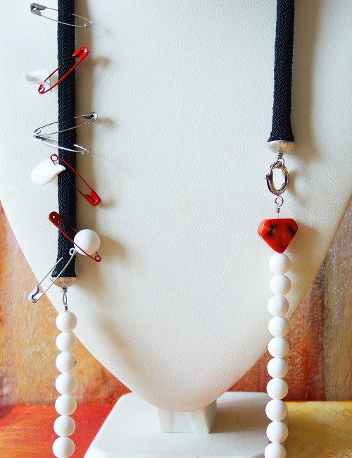 Handmade coral necklace